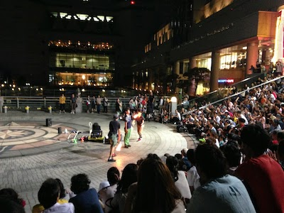 みなとみらい大道芸川原彰、奥田優子