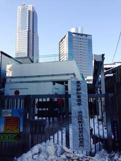 雪の投票所