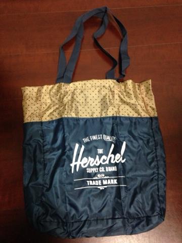 Herschel Supply Packable Travel Tote bag 購入