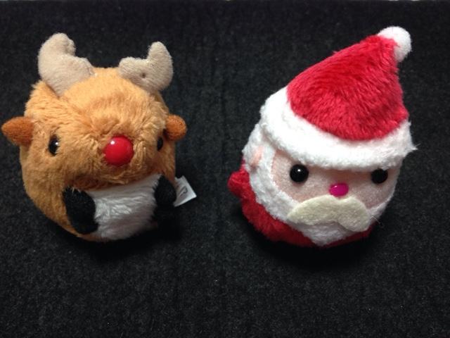 サンタとトナカイのお手玉ぬいぐるみ