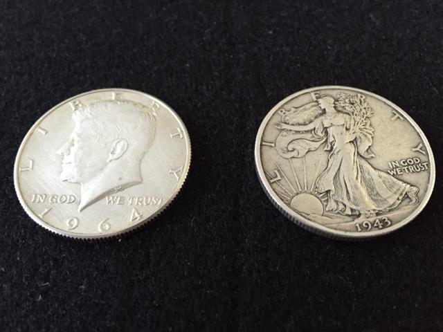 ヤフオクで銀貨を落札