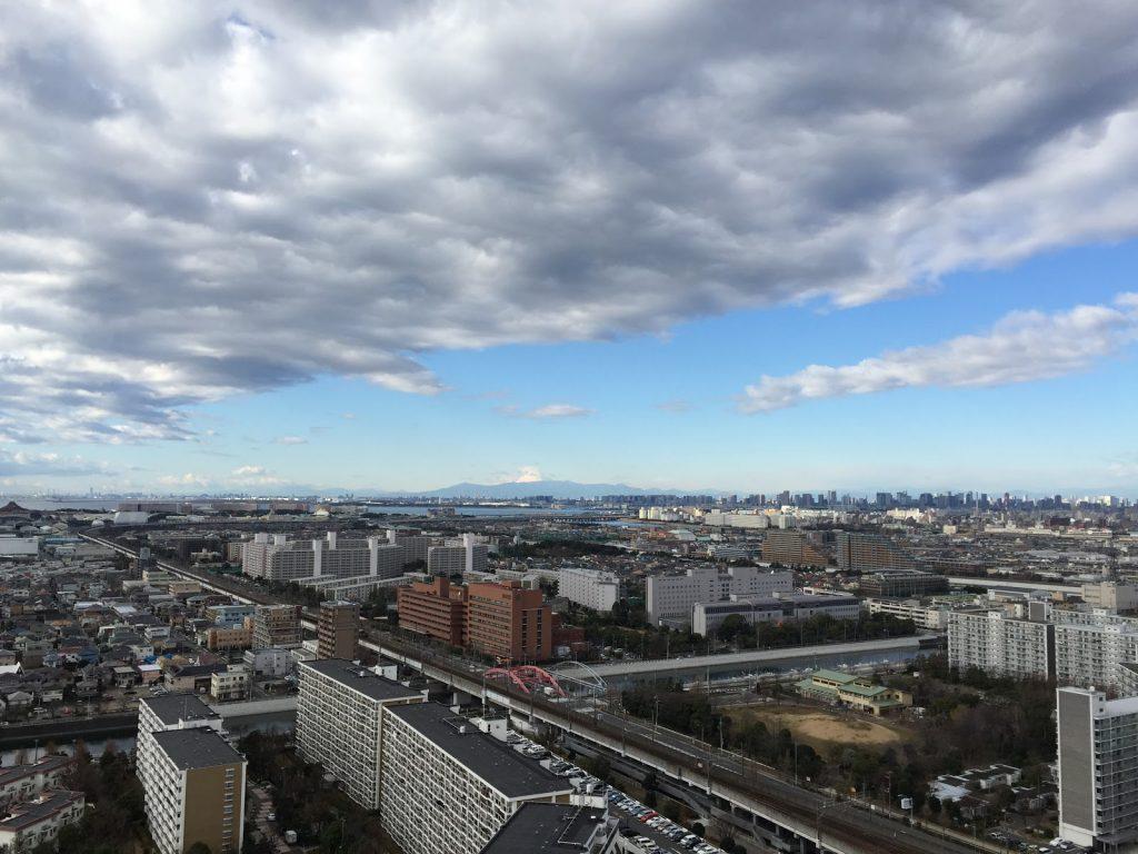 新年の浦安からの富士山