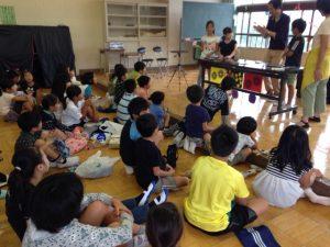 子供会の夏休みお楽しみ会にマジシャン出張 in 東京都国立市