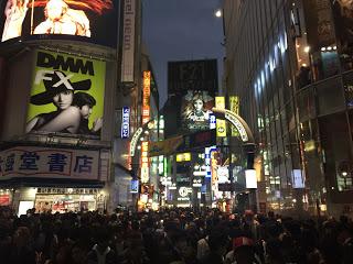 ハロウィンの渋谷の景色