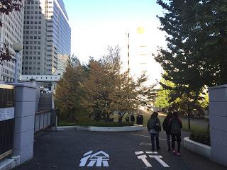 文化学園の裏側広場