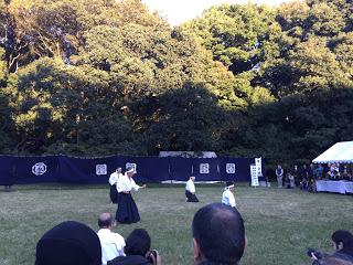明治神宮で古武術の演舞
