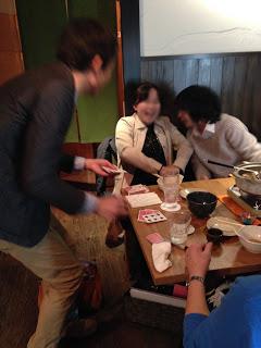 町内会の新年会でカードマジック at 恵比寿 八福寿家