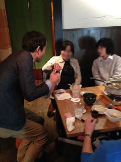町内会の新年会でカードマジック2 at 恵比寿 八福寿家