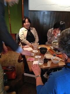 町内会の新年会でカードマジック4 at 恵比寿 八福寿家