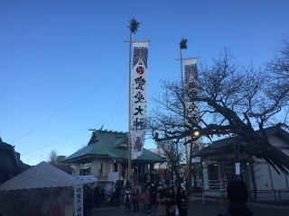 初詣で賑わう浦安の豊受神社