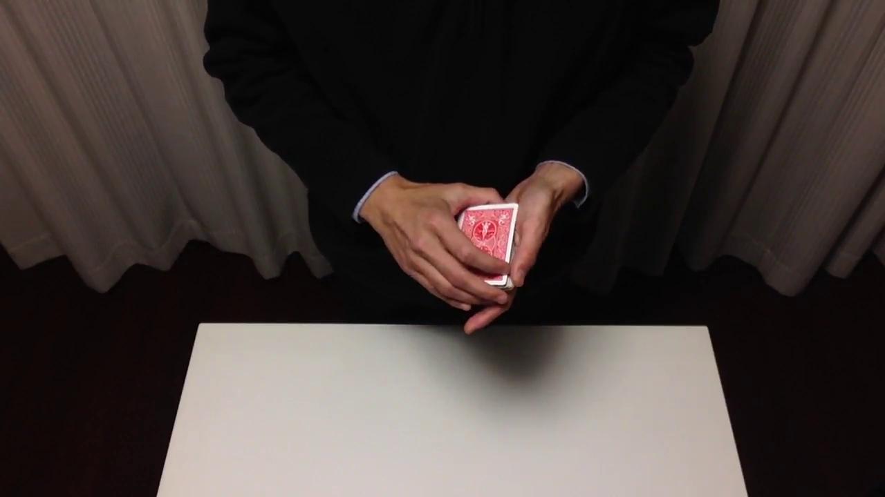 カードマジックの基本技法の組み合わせ動画