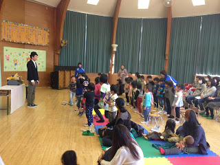 幼稚園でマジックショー