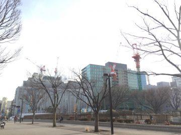 渋谷区役所後工事中