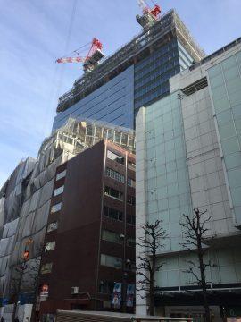 渋谷パルコ跡地に建設中のビル