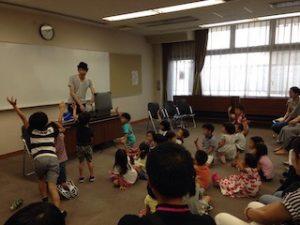 幼稚園児にマジックショー