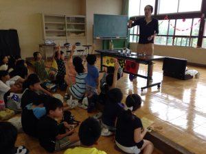 子供習字教室でマジックショー