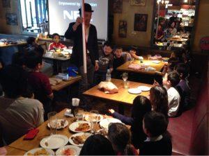 子供向けマジックショーをレストランで