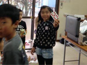 子供習字教室でマジックショー4