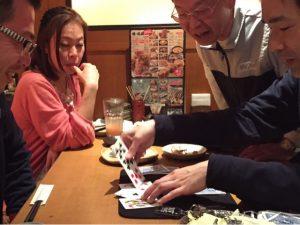 お花屋さんの飲み会でクロースアップマジックショー in 居酒屋,高田馬場,新宿区,東京都