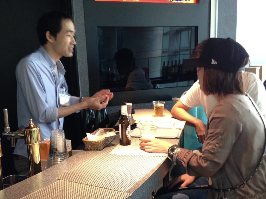 Magic at the bar counter at Haneda Airport