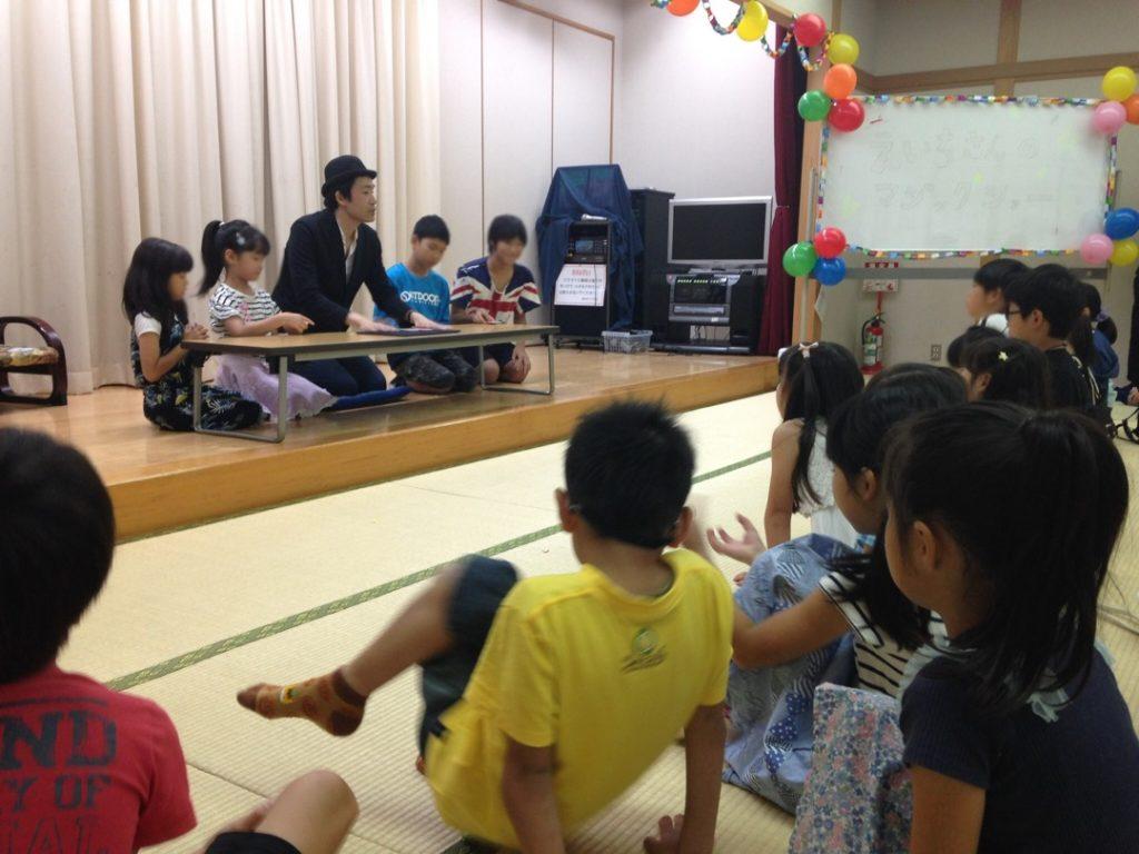 子供会のイベントにマジシャン出張 派遣の子供向けマジックショー 東京都墨田区