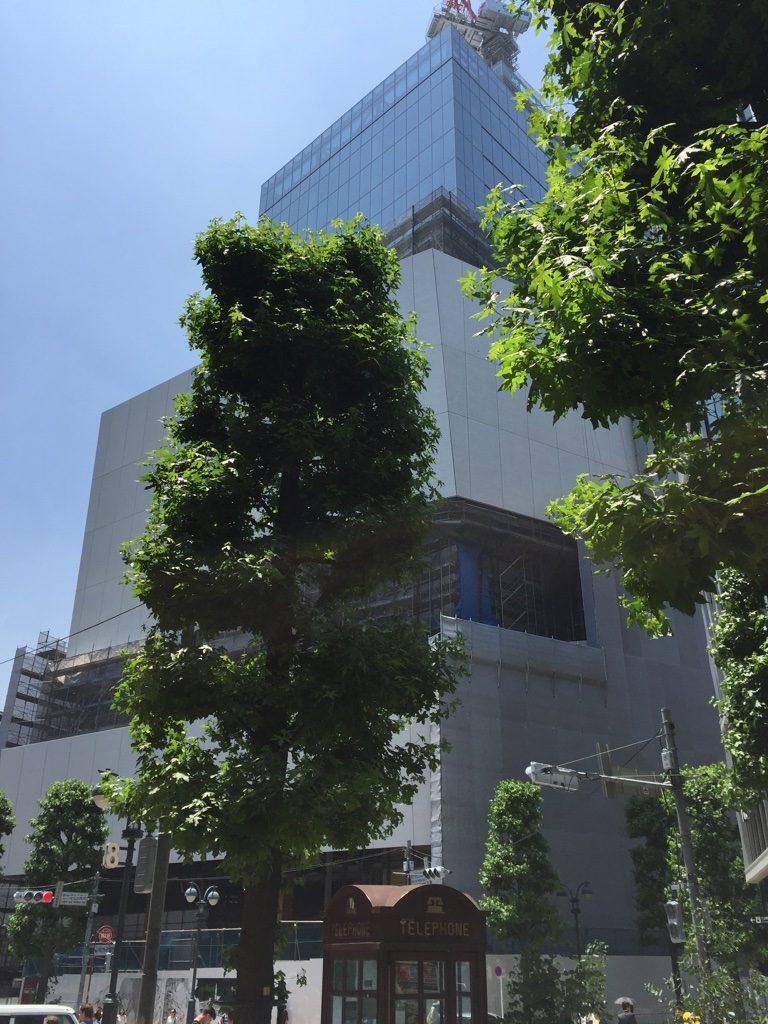 パルコ工事中のAKIRA 新しいパルコビル