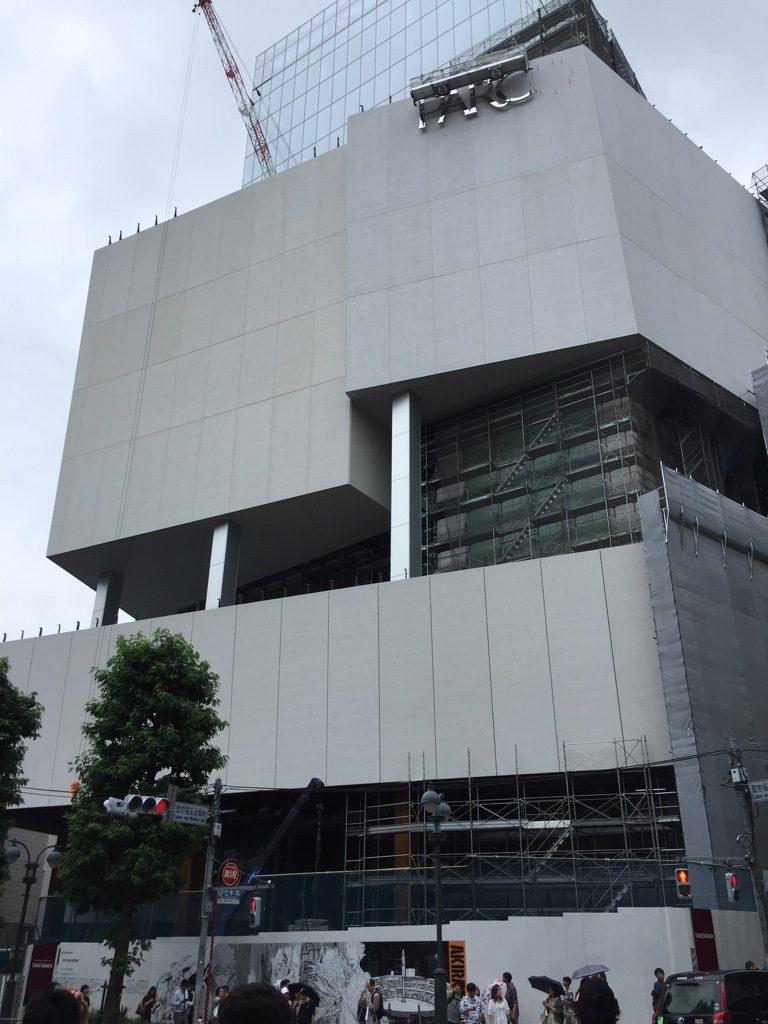 パルコ工事中のAKIRA 新しいパルコビル2