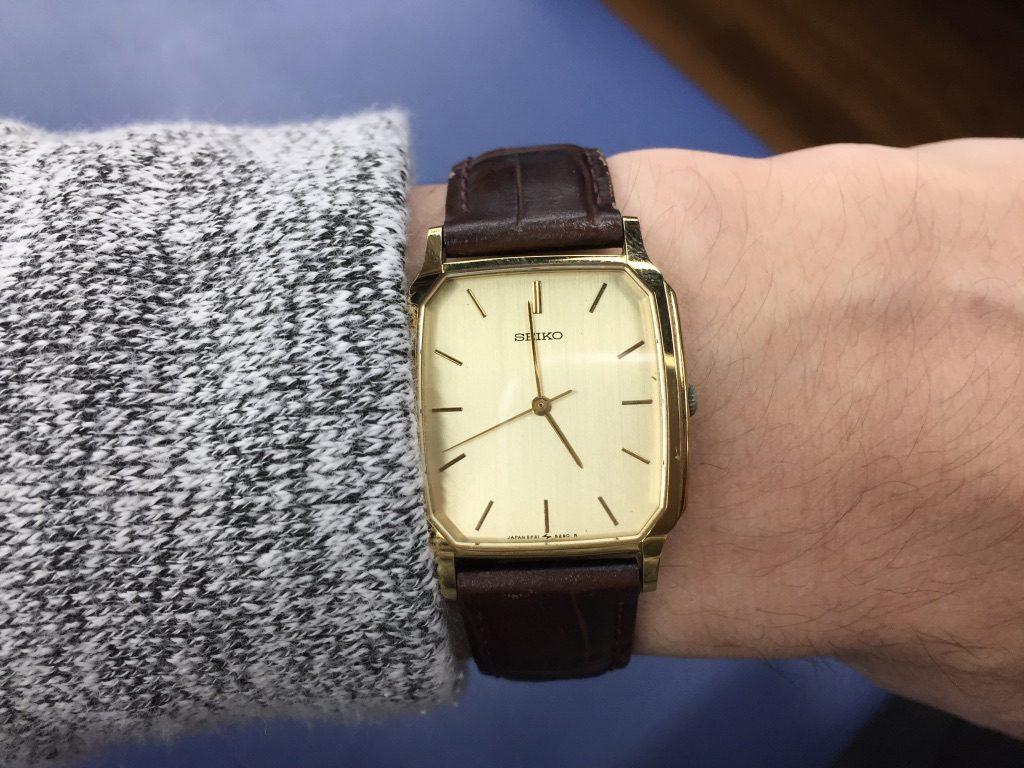 父からのお下がりSEIKO腕時計