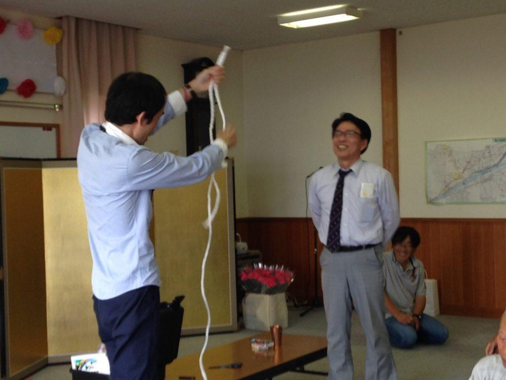 ロープの長さがかなり違う