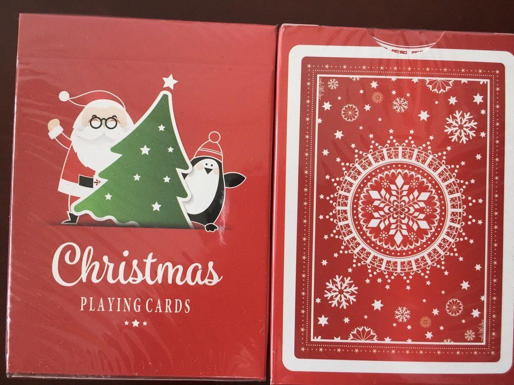 クリスマスデザインのトランプカード