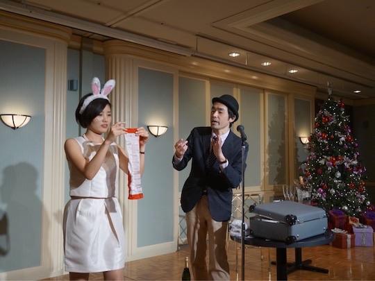 クリスマスパーティーでマジックショー
