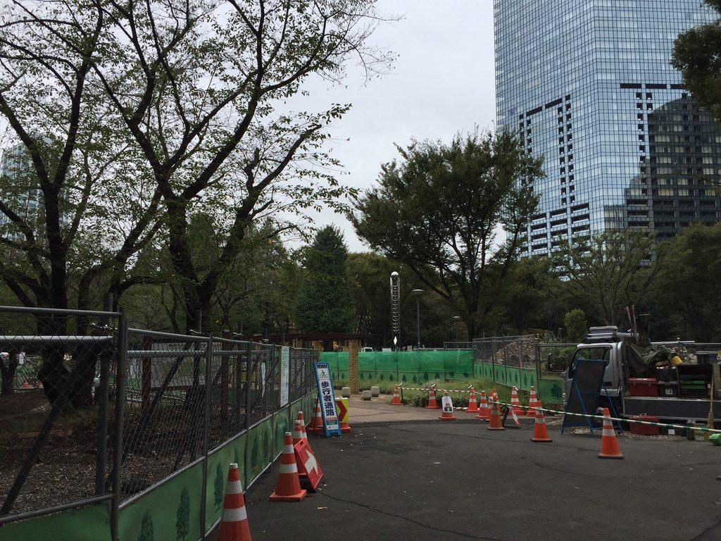 新宿中央公園は工事中