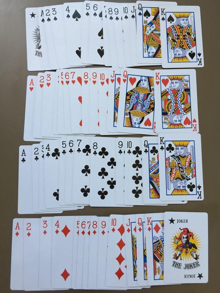 キャンドゥ(Can★Do)の紙製トランプカード A-Kの並び