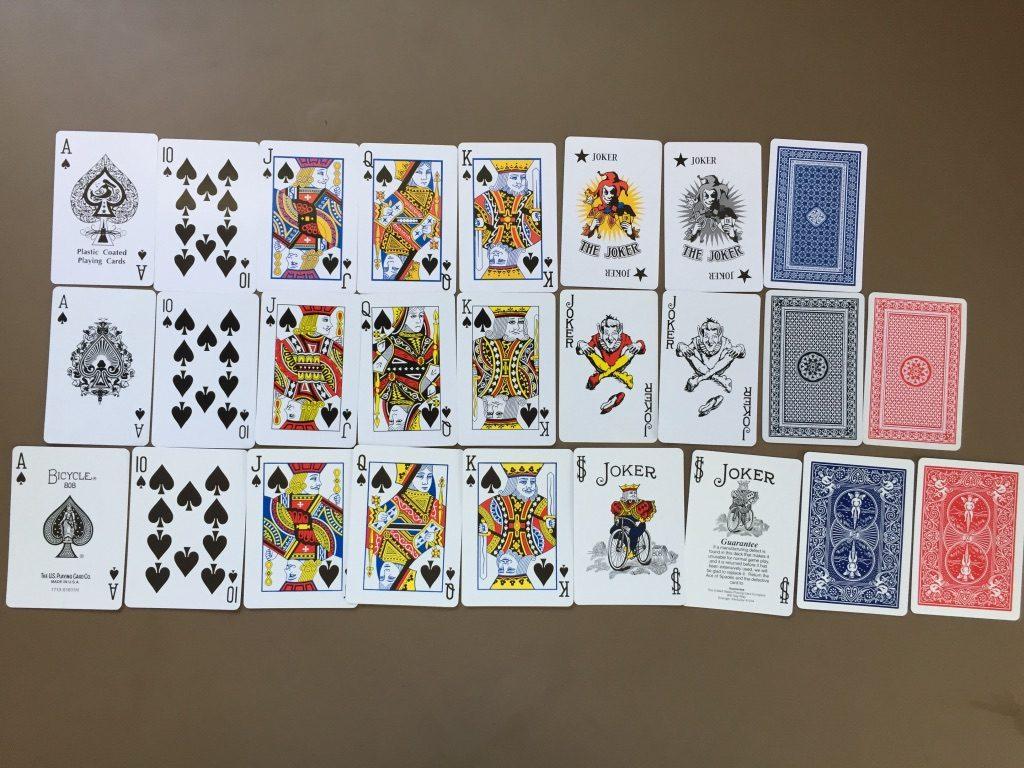 キャンドゥ(Can★Do)の紙製トランプカード ダイソー バイシクル