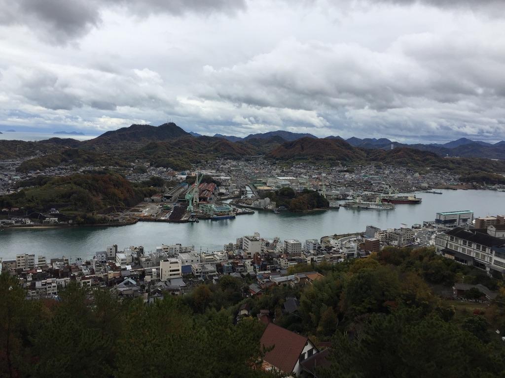 千光寺展望台からの眺め 尾道水道