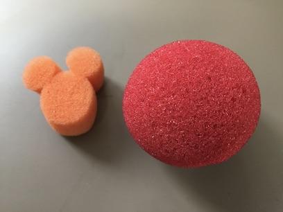 マジシャンが使うスポンジボール 2インチとマジカルスプラッシュ ディズニー ミッキーマウス