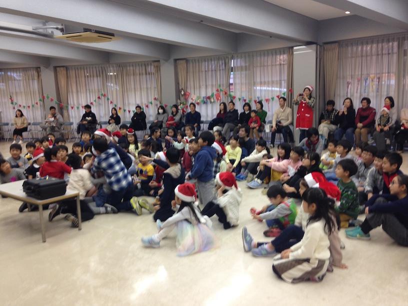 子ども会のクリスマス会でマジックショー 出張