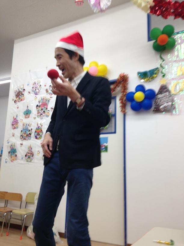 イングリッシュスクールイマジンJAPAN南行徳児童園のクリスマスパーティー スポンジボール