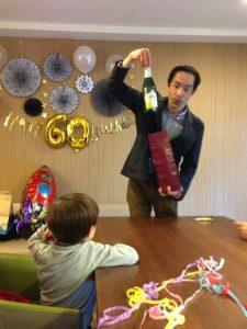 還暦のお誕生日パーティー シャンパンの出現