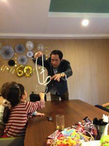 還暦のお誕生日パーティー リングとロープ