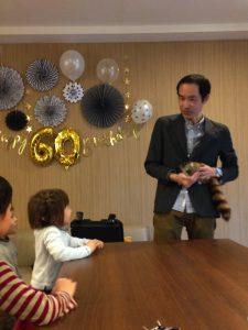 還暦のお誕生日パーティー ロッキーラクーン