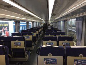西武新宿線特急小江戸の車内