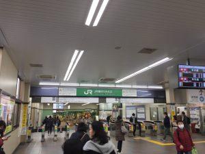 高田馬場駅 西武新宿線からJR乗り換え