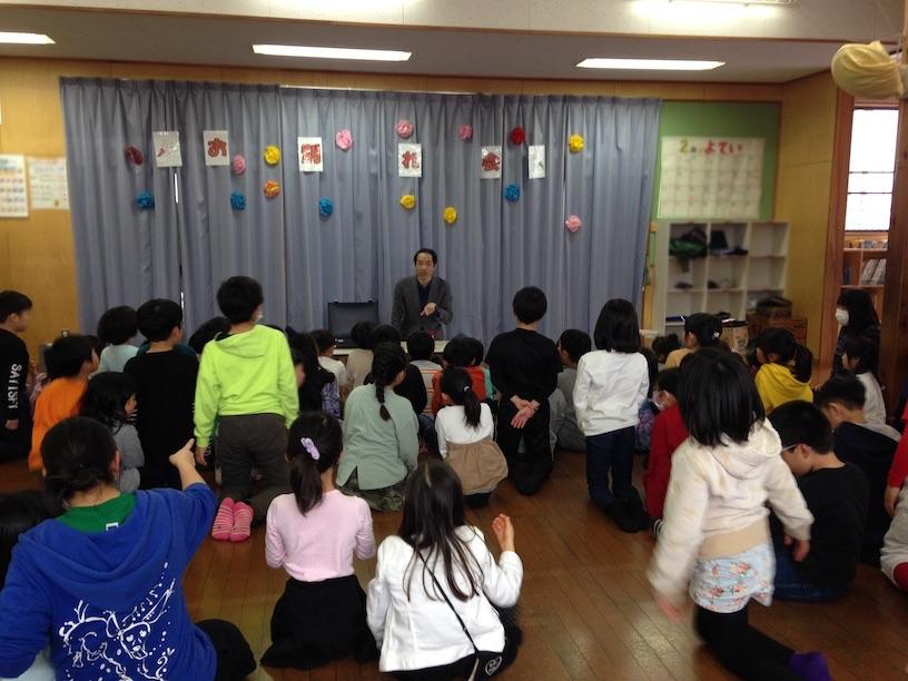 カップアンドボール 最初 学童保育のお別れ会でマジックショー in 東村山市