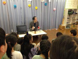 カップアンドボール 学童保育のお別れ会でマジックショー in 東村山市