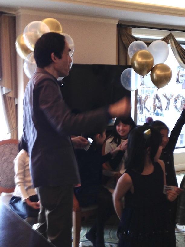 LOVEマジック成功! 双子の10歳の誕生日パーティー in 恵比寿