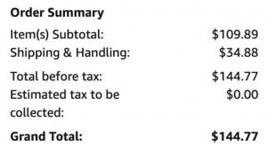 アマゾンでバイシクルプレーイングカードを購入した時の料金