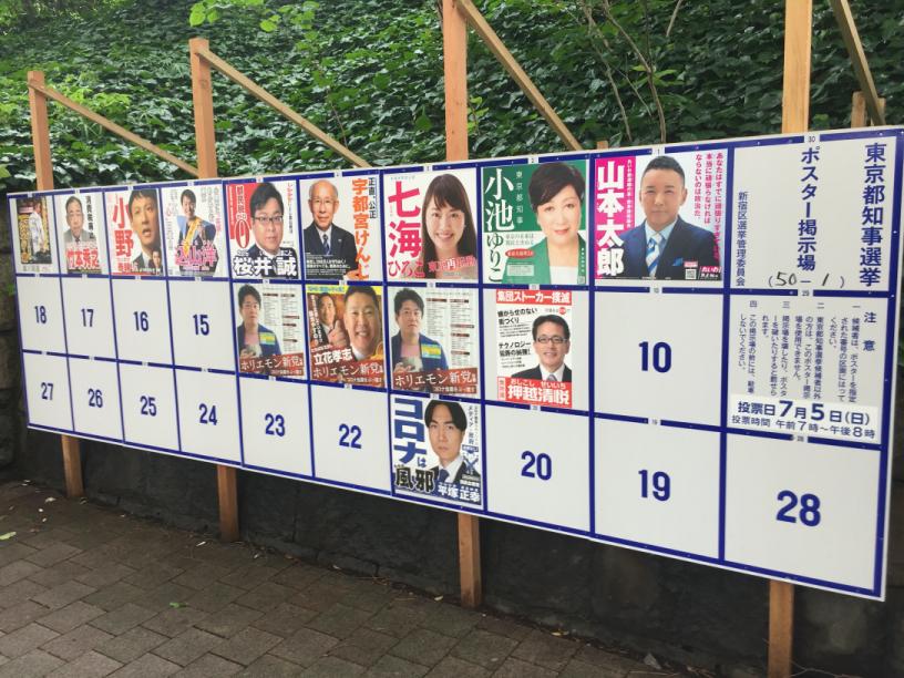 東京都都知事選2020年選挙ポスター