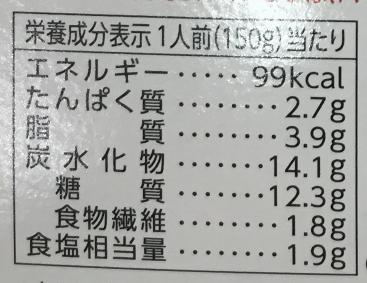 128円の卵のっけレトルトカレーの栄養成分表示