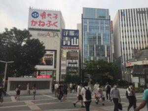 新宿駅東口駅前広場の拡張 派出所前の道路がなくなる